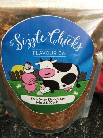 Sizzle Chicks Divine Bovine Meat Rub LOCAL