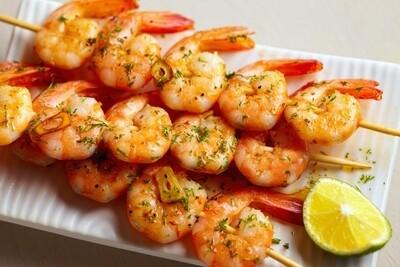 Garlic & Lime Marinated Shrimp Skewers - 4 pack