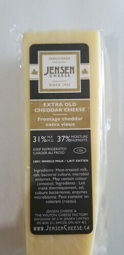 Extra Old White Cheddar Cheese 3 years - Jensen LOCAL