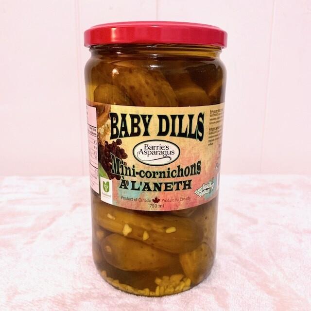 Baby Dill Pickles - Barrie's Asparagus Farm LOCAL - 750ml