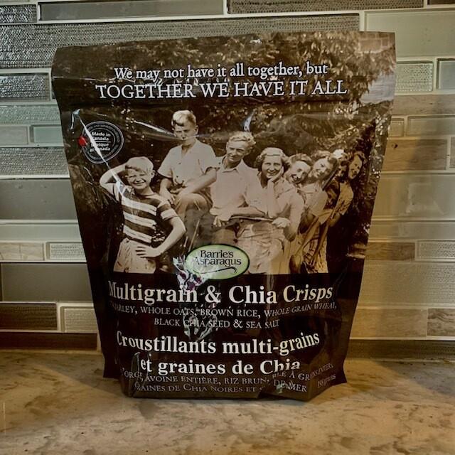 Multigrain & Chia Crisps - Barrie's Asparagus Farm LOCAL - 198g