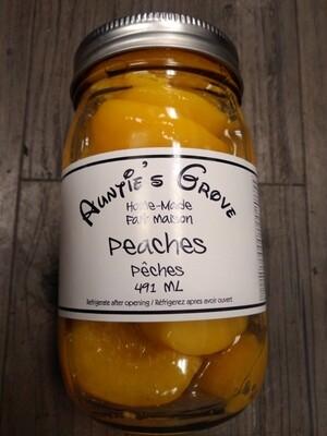Auntie Groves Sweet Peaches 500ml - Local