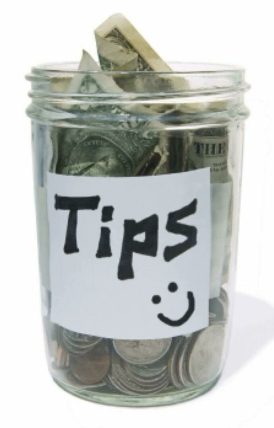 Add a Tip for Driver & Staff