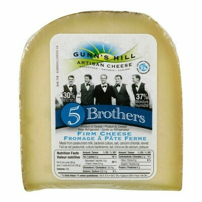 Gunn's Hill Artisan 5 Brothers Swiss/Gouda Cheese - LOCAL