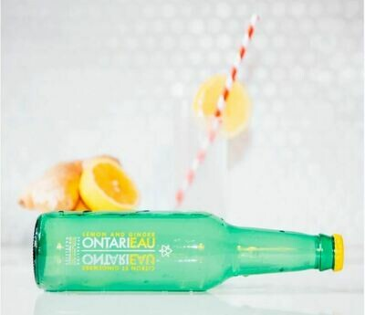 Ontarieau Lemon & Ginger Sparkling Spring Water - 6 * 355ml LOCAL