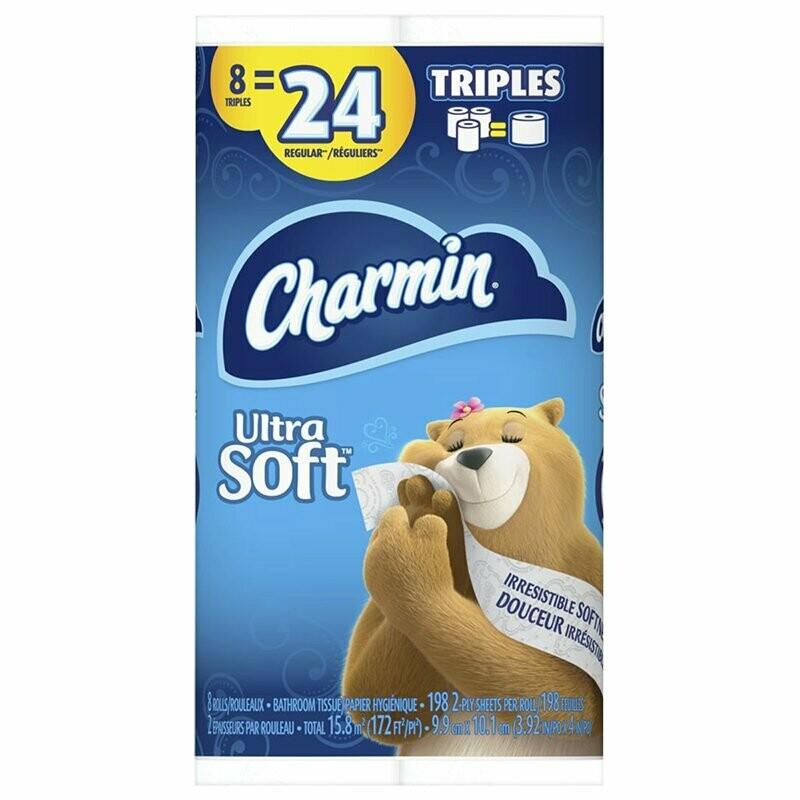 Charmin Bathroom Tissue - 8 Triple Rolls