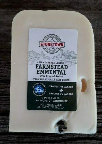 Farmstead Emmental Swiss - Stonetown Artisan Cheese LOCAL