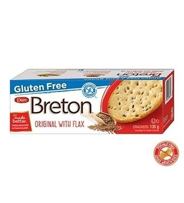 BRETON GLUTEN FREE ORIGINAL WITH FLAX Crackers - 135g