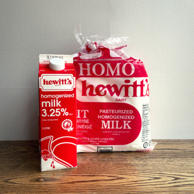 All Natural 3.25% Homogonized Milk - Hewitt's LOCAL 4L