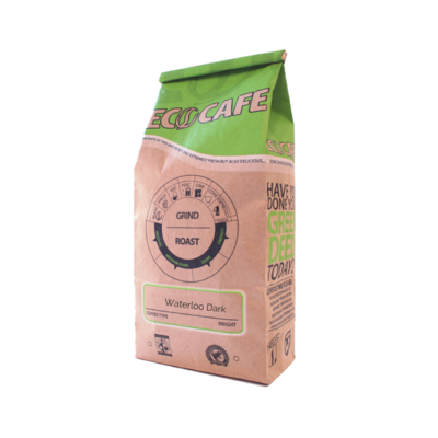 Waterloo Dark Blend Coffee Beans - Eco Cafe St. Jacobs LOCAL - 12oz