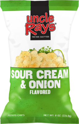 Uncle Rays Sour Cream & Onion Potato Chips - 130g