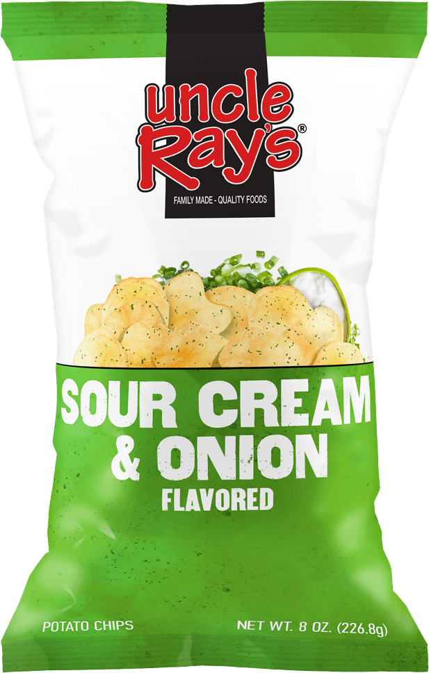Uncle Rays Sour Cream & Onion Potato Chips - 130g