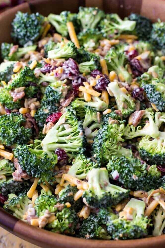 Creamy Broccoli Cheddar Salad