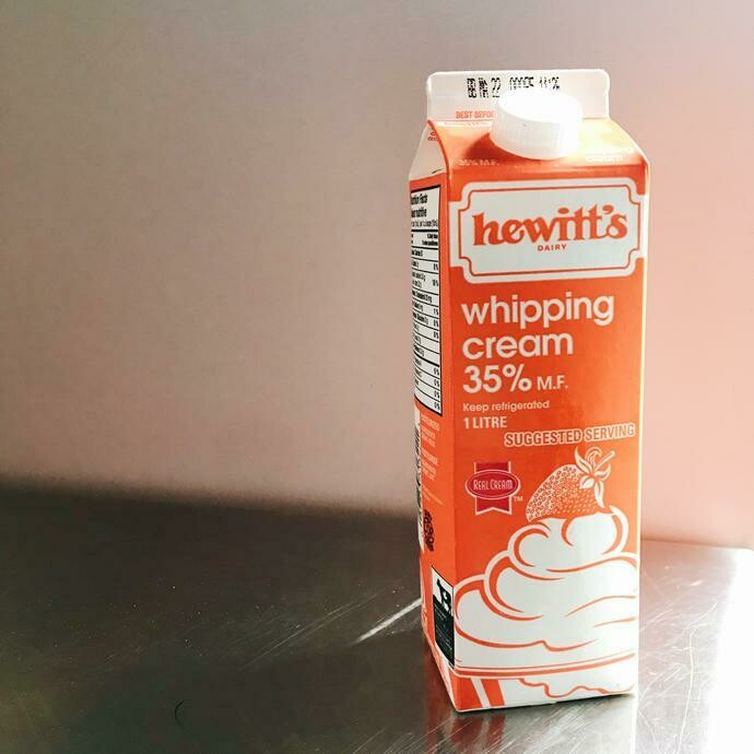Whipping Cream 35% - Hewitt's LOCAL 1L