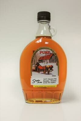 Pure Maple Syrup Amber - 1L LOCAL Snyder Acres Farm