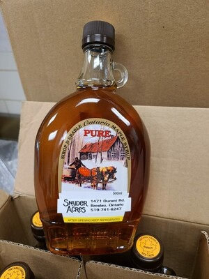 Pure Maple Syrup Amber - 500ml LOCAL Snyder Acres Farm