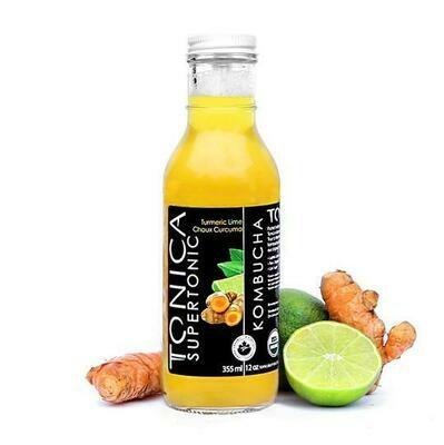 Tonica Kombucha Turmeric Lime Super Tonic 1L - Toronto Ontario
