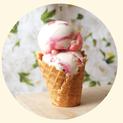 Four All Ice Cream - Raspberry Ripple Ice Cream - LOCAL