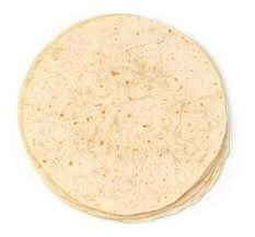 """10"""" White Tortilla Wraps - Pack of 10"""