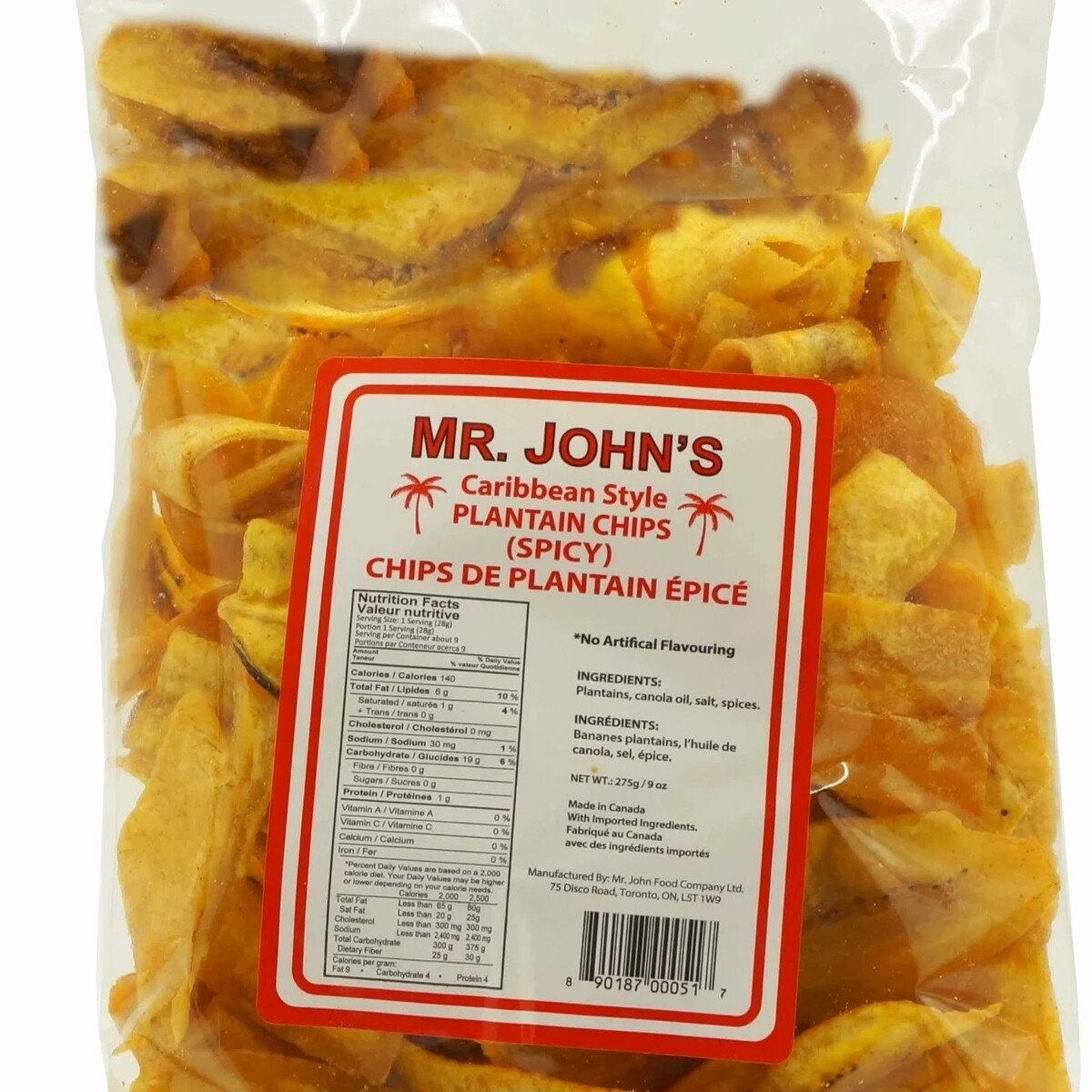 Mr Johns Spicy Plantain Chips