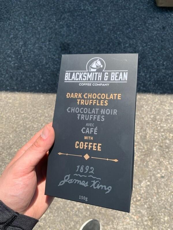 Dark Chocolate Truffles with Coffee- Barrie's Asparagus Farm LOCAL - 150g