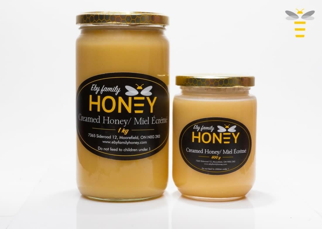 Pure Creamed Honey 500g - Eby Family Honey Farm LOCAL