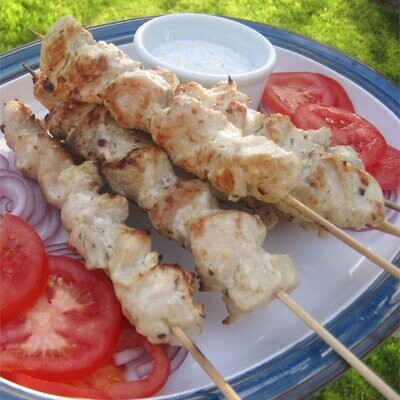 Pork Souvlaki with Tzatziki Sauce 4 Pack