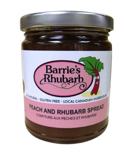 Peach Rhubarb Spread LOCAL Barrie's Asparagus Farm