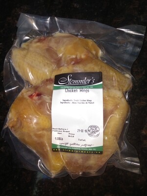 Stemmler's Jumbo Split Chicken Wings 1lb - LOCAL