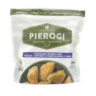 Vegan Balsamic Mushroom & Onion Pierogi's - LOCAL Little Foot Foods