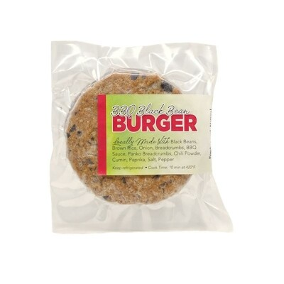 BBQ Black Bean Burger - 2 pack LOCAL