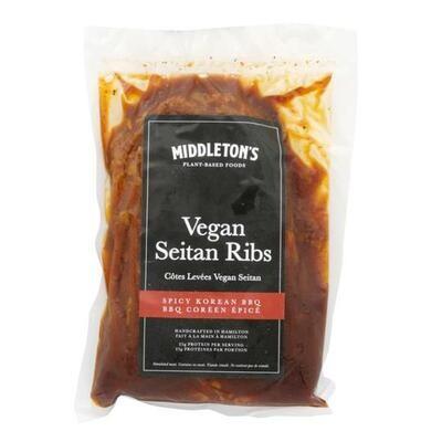 Vegan Spicy Korean BBQ Seitan Ribs - 400g LOCAL