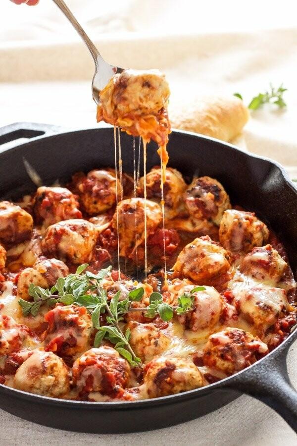 Meatballs Parmesan in Sauce 8 Pack - Heat & Serve Grocery Garden Originals LOCAL