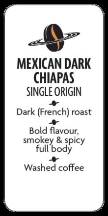 Mexican Dark Chiapas Whole Bean Coffee  - Planet Bean Coffee LOCAL - 12oz