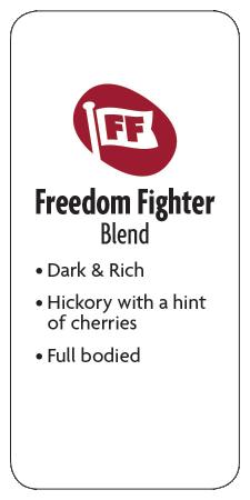 Freedom Fighter Blend Ground Dark Coffee  - Planet Bean Coffee LOCAL - 12oz