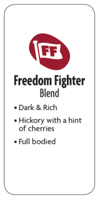 Freedom Fighter Blend Whole Bean Dark Coffee  - Planet Bean Coffee LOCAL - 12oz