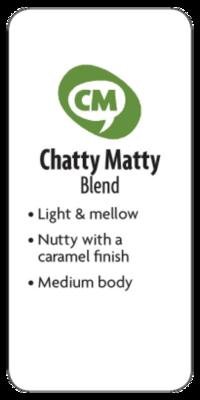 Chatty Matty Blend Whole Bean Medium Coffee  - Planet Bean Coffee LOCAL - 12oz