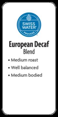 European Decaf Whole Bean Coffee  - Planet Bean Coffee LOCAL - 12oz