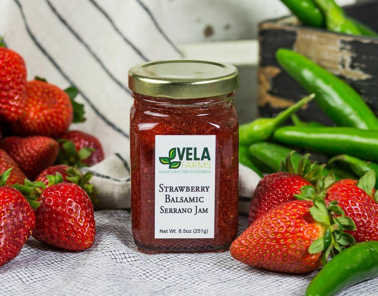 Strawberry Balsamic Serrano Jam