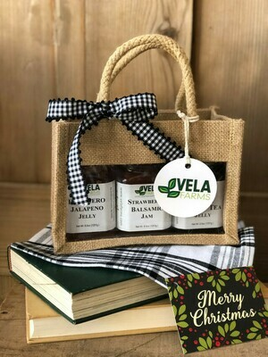 Jute Gift Bag with 3 Jellies