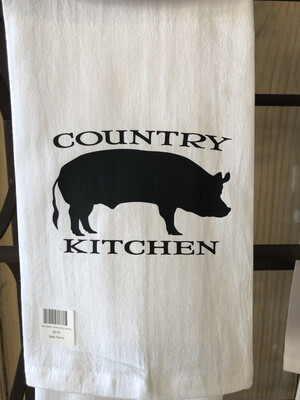 Dish Towel-Country Kitchen Pig