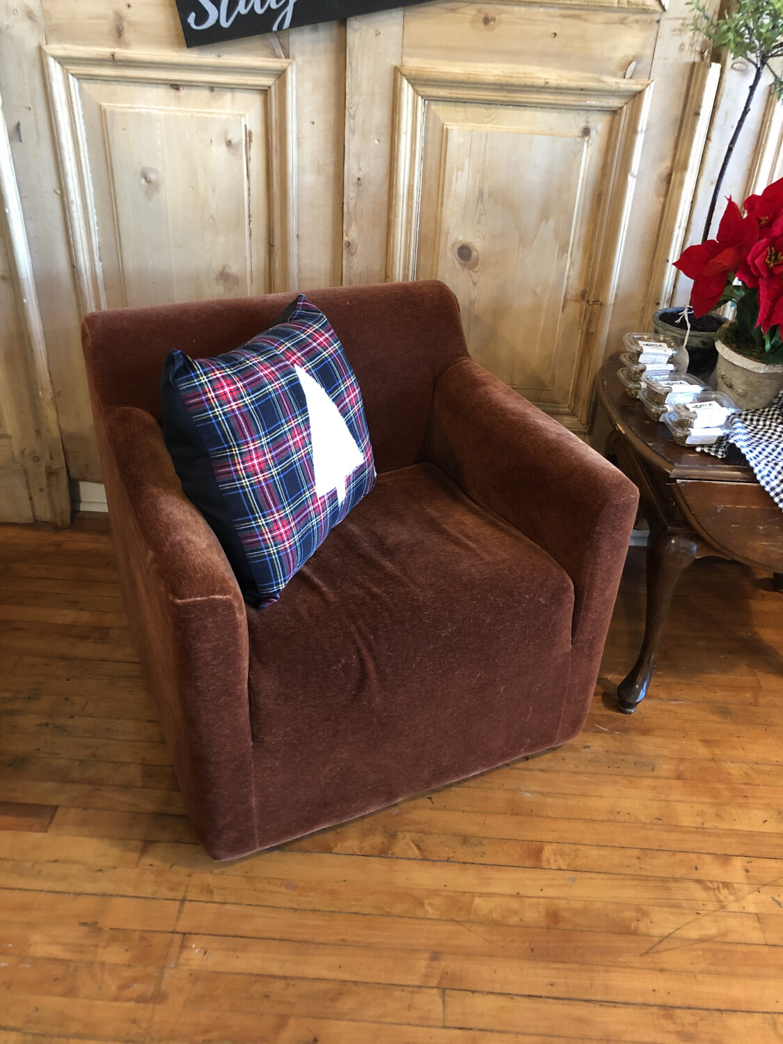 Brown Crushed Velvet Chairs (set of 2)