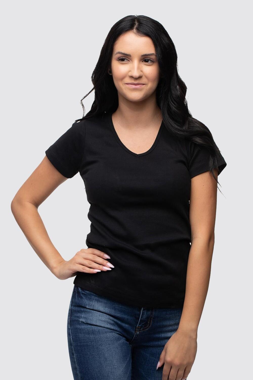 T-shirt rib Switcher Efia V-neck