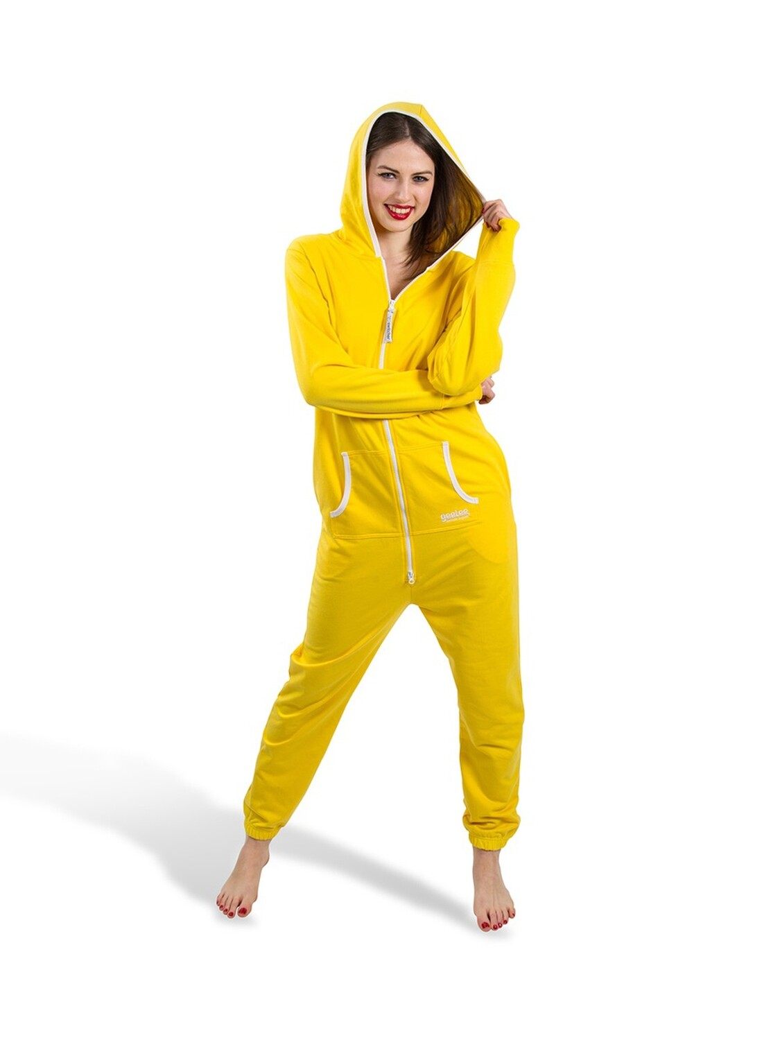 Geelee jumpsuit with hood and kangaroo pocket light version