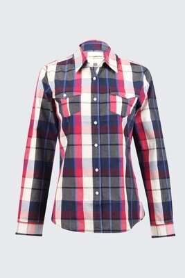 Switcher women's Fashion Checked Shirt long sleeve Emilia