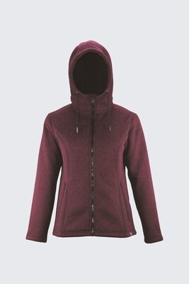 Switcher women hooded sweater jacket Gipfel with fur