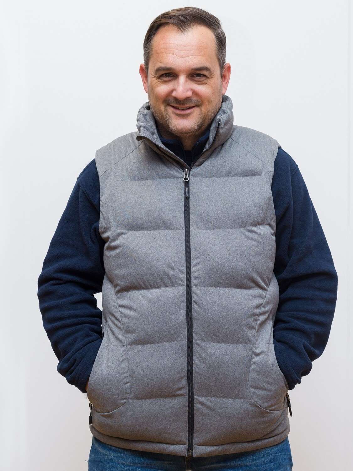 Warm switcher quilted vest First class