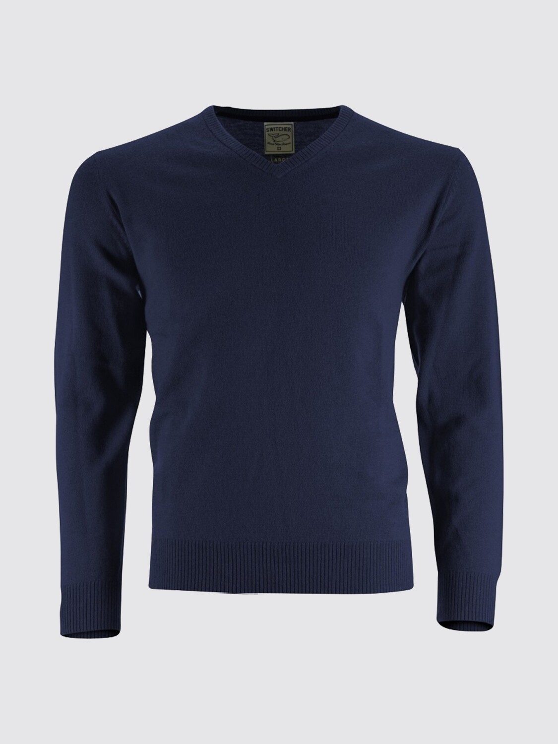 Switcher V-neck knitted sweater