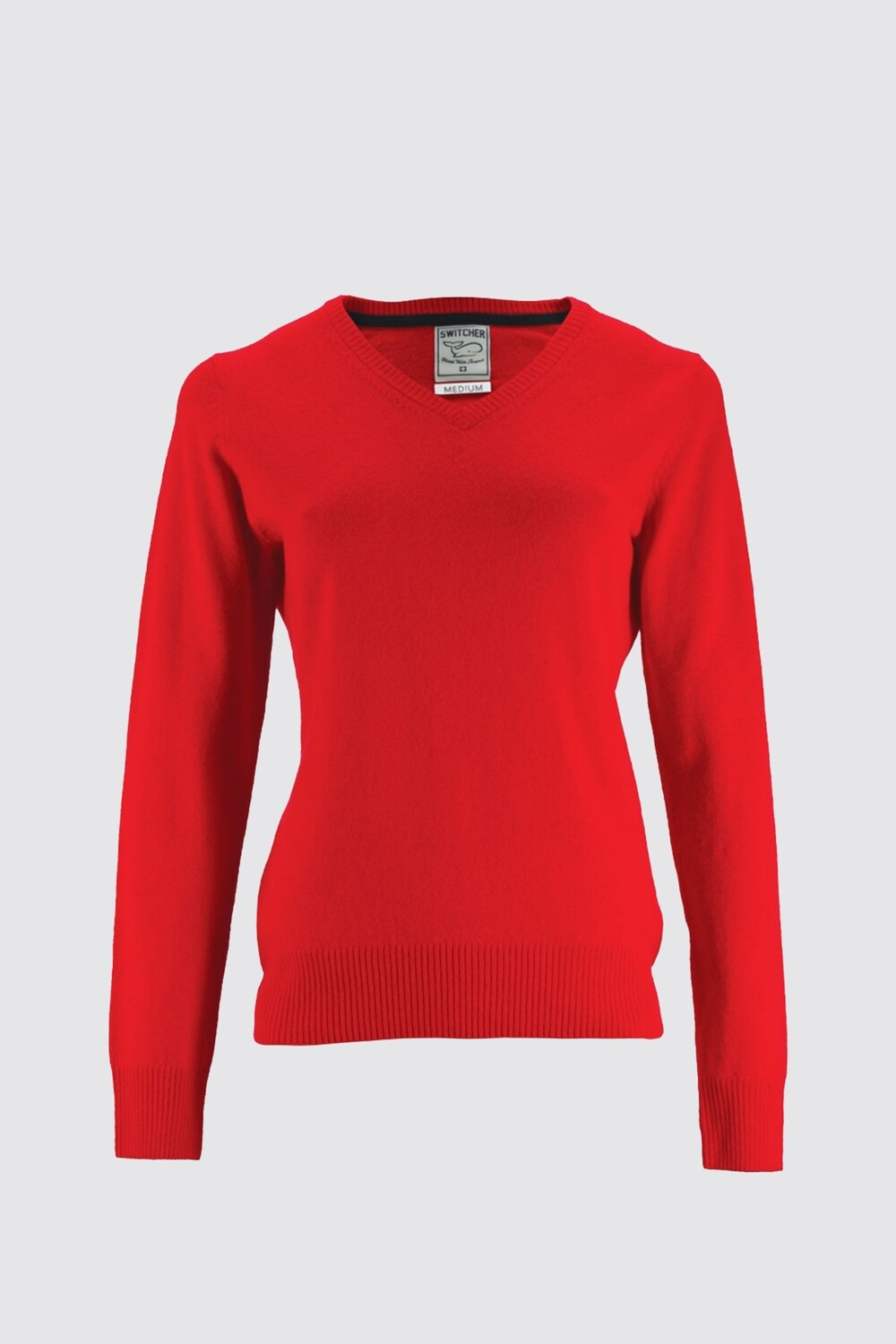 Switcher V-neck women knitted sweater Lucia
