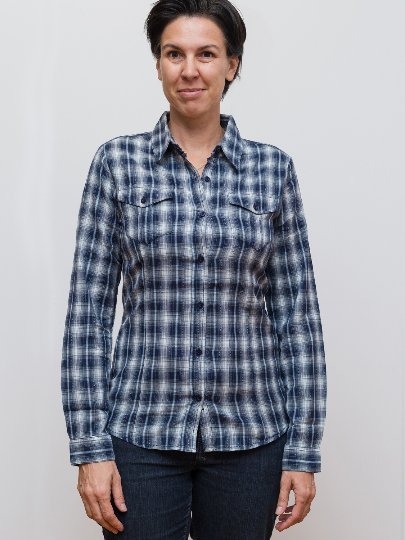 Switcher women's Fashion Checked Shirt long sleeve Emilia